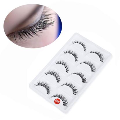 Picture of 5 Pairs Professional Hand Made Thick Crossover Design Fake Eyelashes