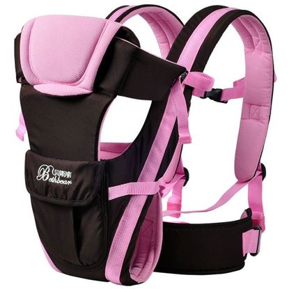 Picture of Bethbear Multipurpose Adjustable Buckle Mesh Wrap Baby Carrier Backpack - Pink