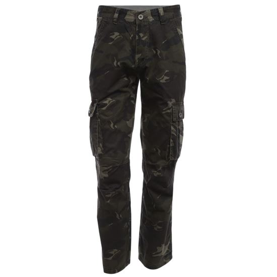 Picture of Casual Camouflage Embellishment Outdoor Male Multi-pocket Straight Pants