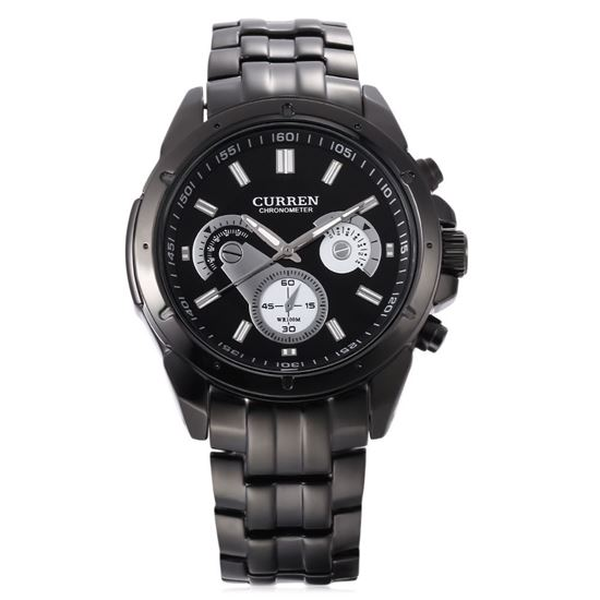 Picture of CURREN 8009 Male Quartz Watch Luminous Stainless Steel Band Decorative Sub-dial 3ATM Wristwatch