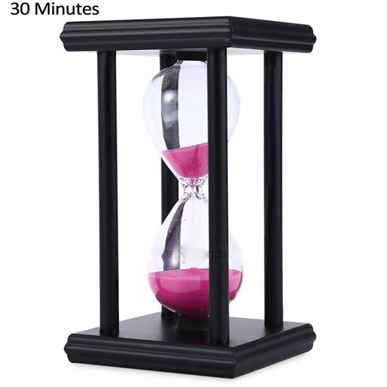 Picture of Hourglass Sand Timer 30 Minutes Wood Sand Timer for Kitchen Office School Decorative Use